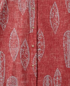 Red Aloha Shirt Fabric